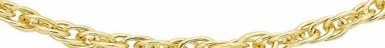 Carissima 9ct Yellow Gold Prince of Wales Chain 46cm/18``