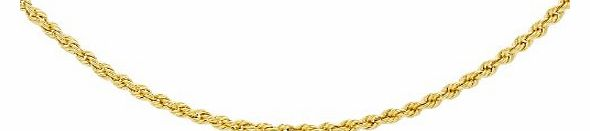 Carissima 9ct Yellow Gold Rope Chain 41cm/16``