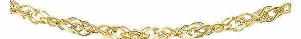 Carissima 9ct Yellow Gold Semi Hollow Curb Chain Necklace 61cm/24``