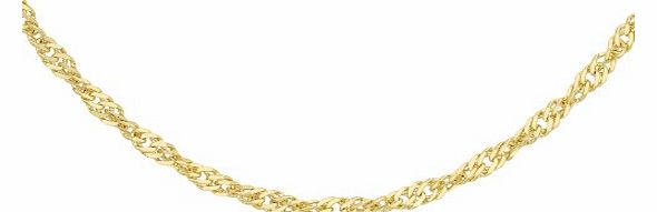 Carissima 9ct Yellow Gold Twist Curb Chain 51cm/20``