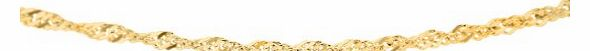 Carissima 9ct Yellow Gold Twist Curb Chain Necklace 50cm/20``