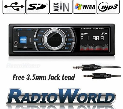 Carsio Car Stereo Headunit Radio Player MP3 / USB /SD/ AUX / FM / iPod / iPhone Non CD (*Now With Iso)