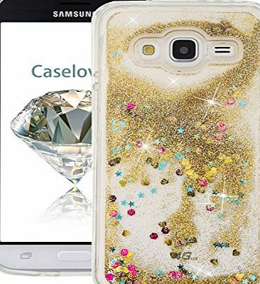 CaseLover Samsung Galaxy J3(2016) Case, Caselover Liquid Case for J3, Gradual Color Creative Flowing Floating Back Cover Star Quicksand Bling Silicone TPU Flexible Soft Waterproof Oilproof Shock-Absorption Anti