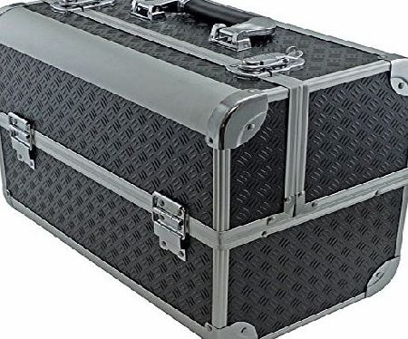 Cases and Enclosures Fishing Tackle/ Bait Box Case Toolbox with Fold Out Trays 360x280x215mm Black