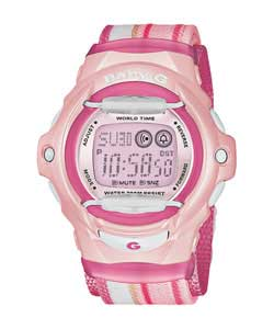 Baby G Ladies Illuminator LCD Pink Watch