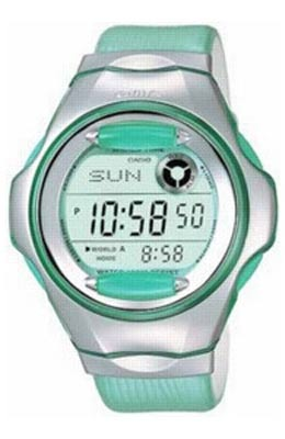 Ladies Baby G Green Databank MSG 140L 3VER