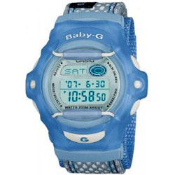 Ladies Baby G Pale Blue Telememo Watch