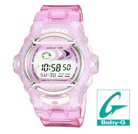 Ladies Baby G Pink Jelly Watch BG 169V 4AVER