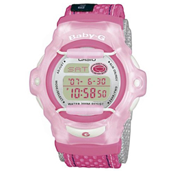 Ladies Baby G Pink Telememo Watch Cloth