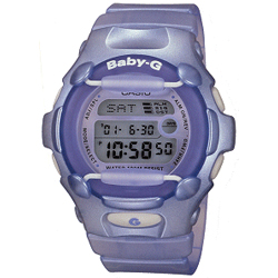 Ladies Baby G Watch Lilac Shock Resistant