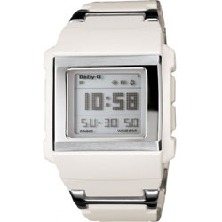 Ladies Baby G White Watch BG 2000C 7ER
