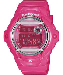 Womens Baby-G Pink Illuminator Watch