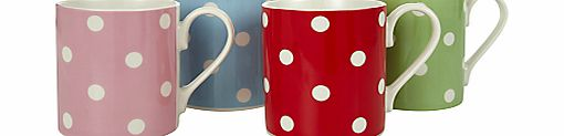 Cath Kidston Dotty Mugs, Set of 4