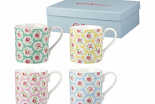 Cath Kidston Provence Rose Mugs, Set of 4