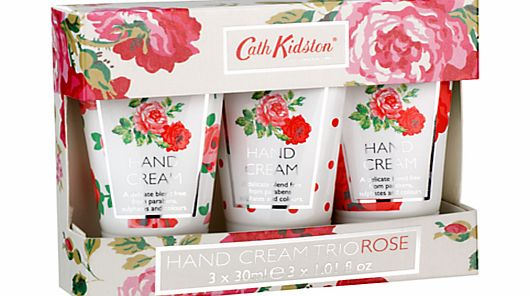 Rose Hand Cream Trio, 3 x 30ml