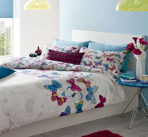 Catherine Lansfield Butterfly Fusion Duvet Cover Set - Double