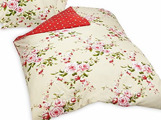 Catherine Lansfield Canterbury Red Duvet Cover Set - Double