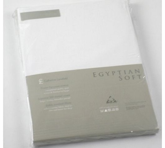 Catherine Lansfield CL Home 200 Thread Count Cotton Egyptian Double Fitted Sheet, White