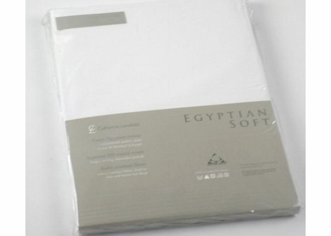 Catherine Lansfield CL Home 200 Thread Count Cotton Egyptian Single Fitted Sheet, White