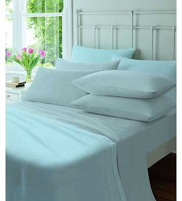 Catherine Lansfield Flannelette Blue Fitted Sheet - Kingsize