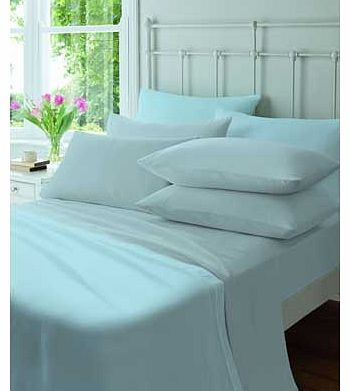 Catherine Lansfield Flannelette Blue Pair of Pillowcases