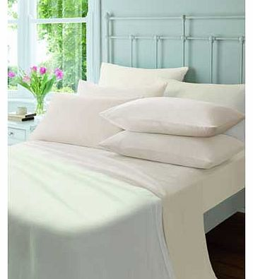 Catherine Lansfield Flannelette Cream Fitted Sheet - Double