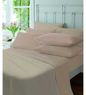 Catherine Lansfield Flannelette Natural Fitted Sheet - Double