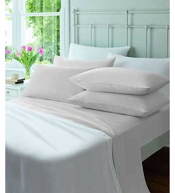 Catherine Lansfield Flannelette White Fitted Sheet - Kingsize