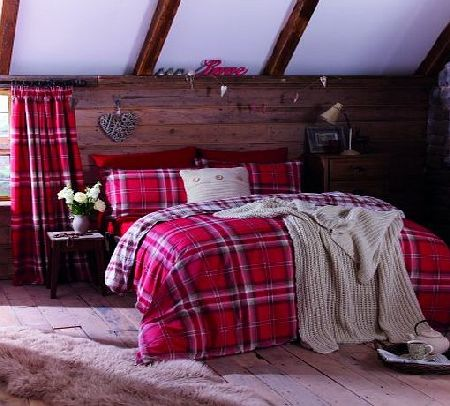 Catherine Lansfield Kelso Single Duvet Set - Red