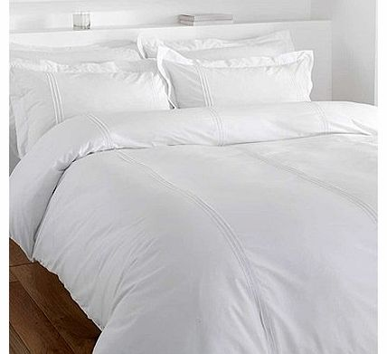 Catherine Lansfield Minimalist Duvet Cover Set, White, Double