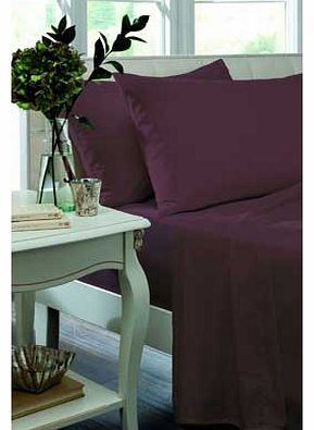 Catherine Lansfield Percale Non Iron Claret Fitted Sheet - Kingsize
