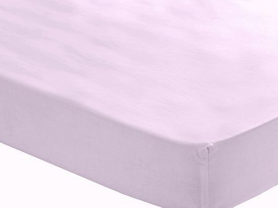 Catherine Lansfield Percale Non Iron Lilac Fitted Sheet - Double