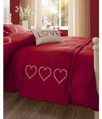 Catherine Lansfield Red Deco Heart Runner