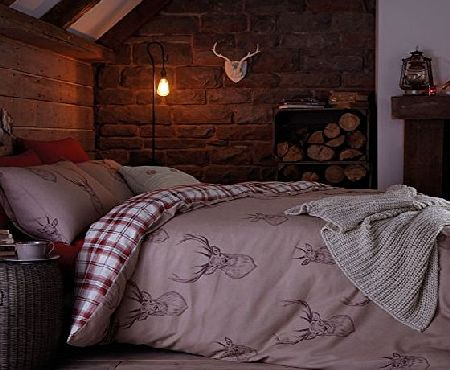 Catherine Lansfield Stag King Duvet Set - Multi