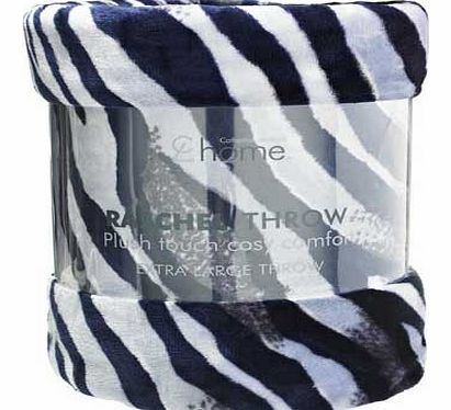Catherine Lansfield Zebra Throw - Black and White