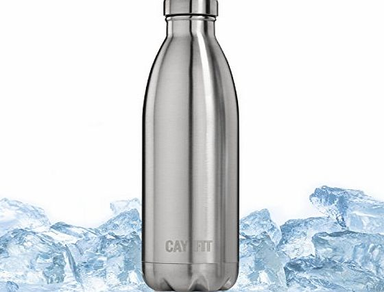 Cayman Fitness Insulated Stainless Steel Water Bottle (740 ml)