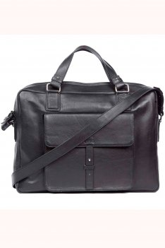 Blake Black Leather Briefcase