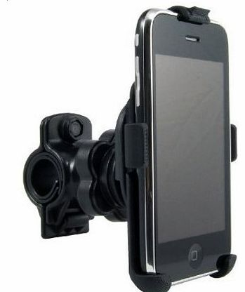 Perfect Fit OEM Bike handlebar Mount for Apple IPhone 4 / 3GS / 3G Smartphones (Fits handle bars up to 1``)