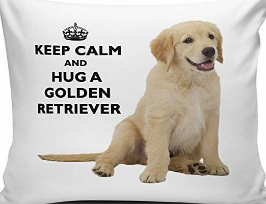 CCOVER Keep Calm And Hug A Golden Retriever Cushion Cover