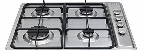 CDA HG6100 CDA Four Burner LPG Ready GACas Hob in Stainless Steel