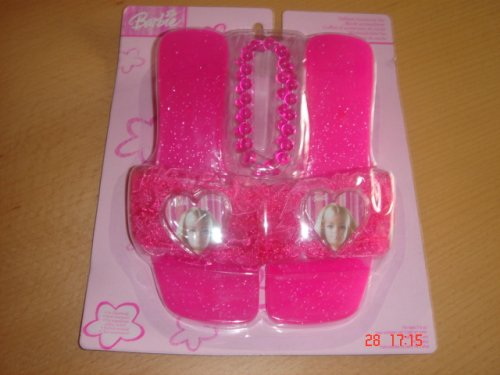 Barbie - Pink shoes and Necklace
