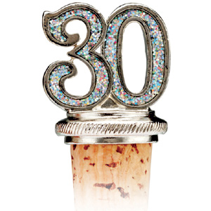 30th Bottle Stopper