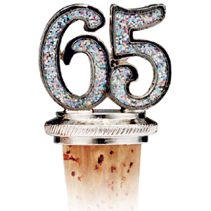 65th Birthday Bottle Stopper