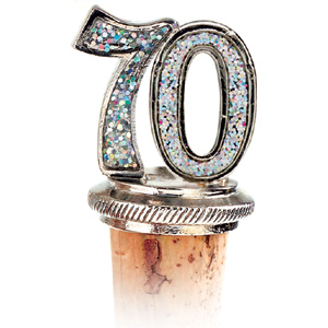 70th Bottle Stopper