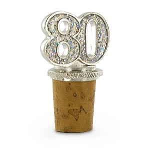 80th Birthday Bottle Stopper