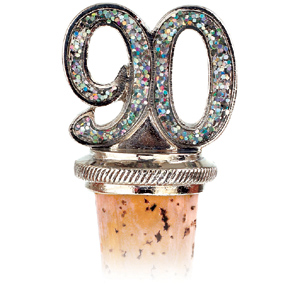 90th Birthday Bottle Stopper