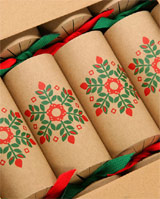 Celebration Crackers 6 Recycled Card Xmas Crackers - complete with