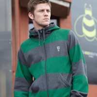 Heritage Thick Stripe Hoodie - Bottle