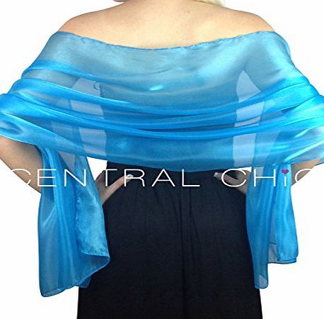 Central Chic Silky Iridescent Wrap Stole Shawl For Weddings Bridal Bridemaids & Evening Wear - Various Colour
