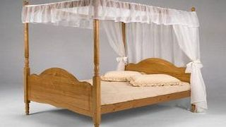 CENTURION PINE 07779 270996 5 KING VENEZA PINE 4 POSTER BED WITH MATTRESS amp; DRAPES FROM CENTURION PINE